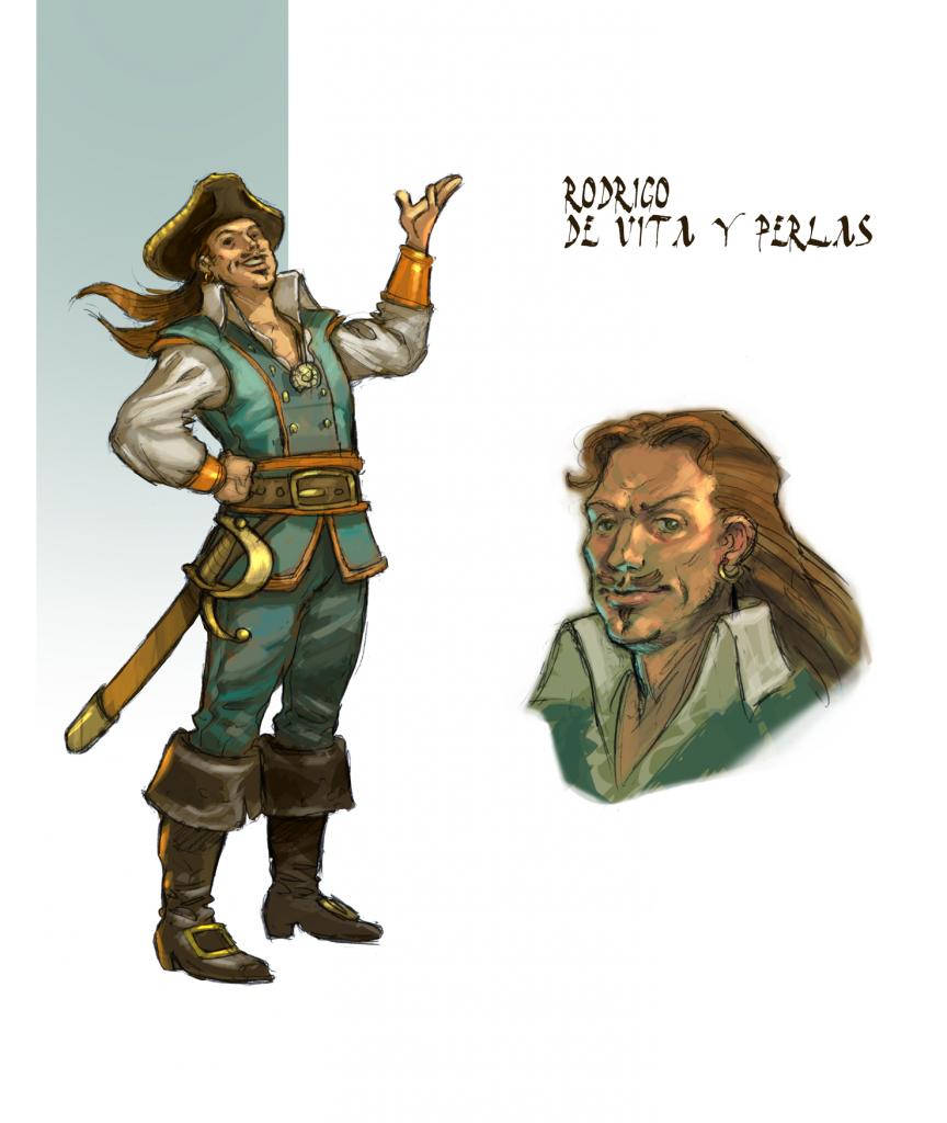 Pirata Rodrigo de Vita y Perlas